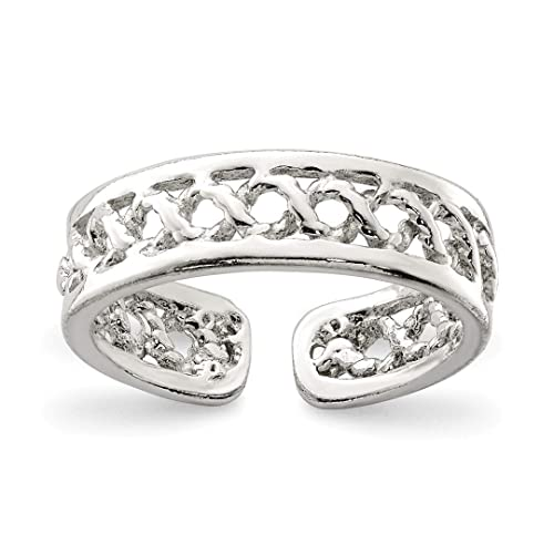 Sterling Silver Adjustable Toe Ring Fashion Jewelry Pipeline Buy One Get One Free Jewelry & Watches