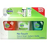 Dettol No-Touch Hand Wash System Refill Value Pack (3 x 250ml Refills) Scented