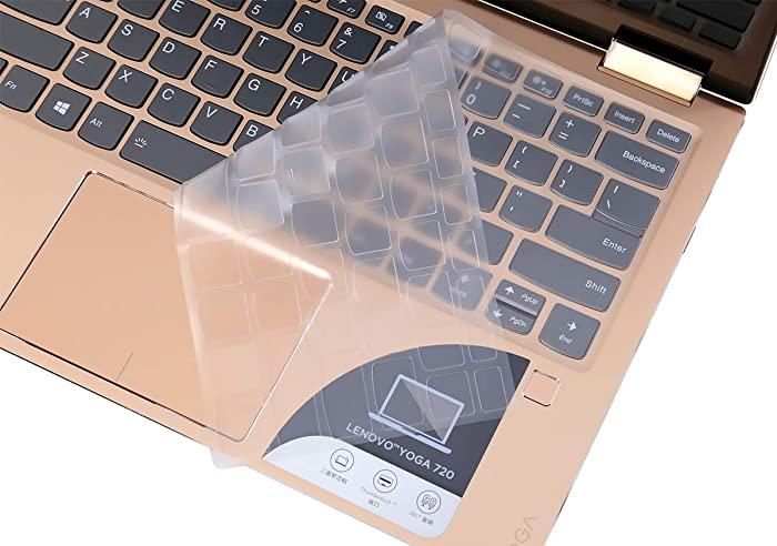 "Clear Keyboard Cover for Lenovo Flex 14 /Lenovo Yoga C740 C940 C930 14"" /Lenovo Yoga 720 720S 730 13.3""/Lenovo Yoga 720 12.5""/Ideapad 720s 13"" 14"" Thin TPU Keyboard Skin"