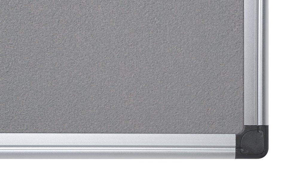 Bi-Office Filztafel Maya Pinnwand Mit Aluminiumrahmen Zum Gebrauch Mit Pinnnadeln Burgunderrote Filzoberfl/äche 120 x 90 cm