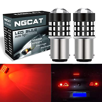NGCAT 2PCS 1157 BAY15D Bombilla LED 3014smd chips 54-EX 7528 Bombilla LED con lente