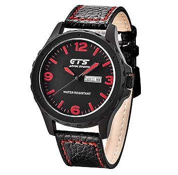 Relojes para hombre, reloj de cuarzo ICHQ para hombre, reloj analógico único barato en venta de piel para hombres: Amazon.es: Hogar