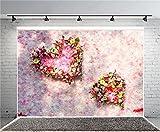 AOFOTO 7x5ft Wedding Shower Girls Party Photography Background Romantic Flower Petals Wall Love Garland Flowers Bridal Shower Backdrop Kids Newborn Baby Girlfriend Lady Portrait Photo Shoot Prop