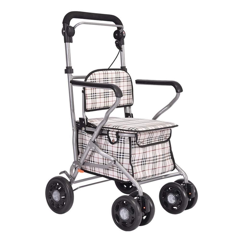 フジオカシ 歩行器 白) ウォーカー折りたたみ式ウォーカーポータブルショッピングカート高齢者用トロリースクーターウォーカー用高齢者に親密な贈り物車椅子買物車プッシャブルカー軽量折りたたみ式ウォーカー座ることができるポータブル耐荷重100kg 歩行器 (Color : 白) B07MDGZLXD 白 B07MDGZLXD, ナマコのコスメショップ:7d6e182c --- a0267596.xsph.ru
