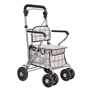 Carritos de la compra Andador Plegable Carro De La Compra Portátil Anciano Trolley Scooter Caminante Dar A Los Ancianos Un Regalo Íntimo Silla De Ruedas ...