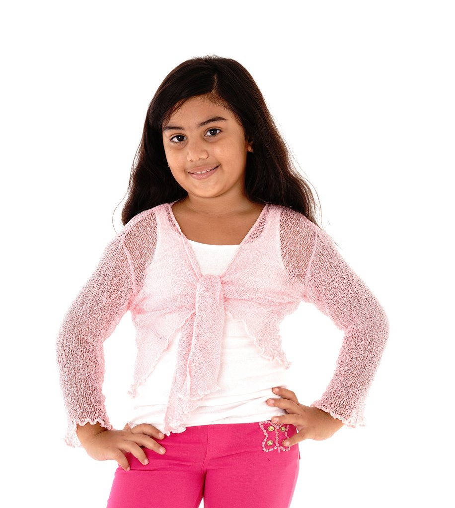 Shu-Shi Girls' Knitted Tie Top Shrug Cardigan shirt dress cover up for 2Y-12Y