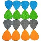 Felt Ukulele/Guitar Picks, Multicolored, Pack of 16