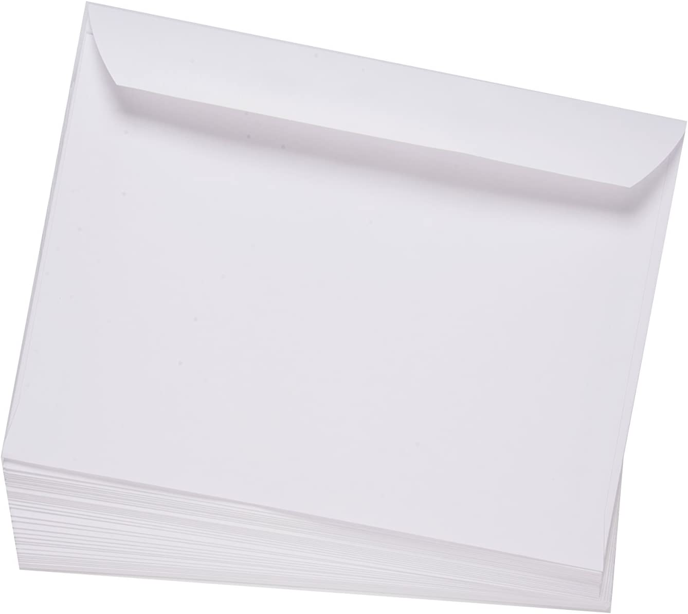 EnDoc 6x9 Open Side Envelopes - Bright White color Booklet 6 x 9 Gummed Seal Envelope, 24lb. Heavyweight Paper For Home, Office, Business or School - 50 Pack : Office Products
