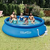 Summer Waves 12 Ft. Quick Set Inflatable Above Ground Pool with Filter Pump