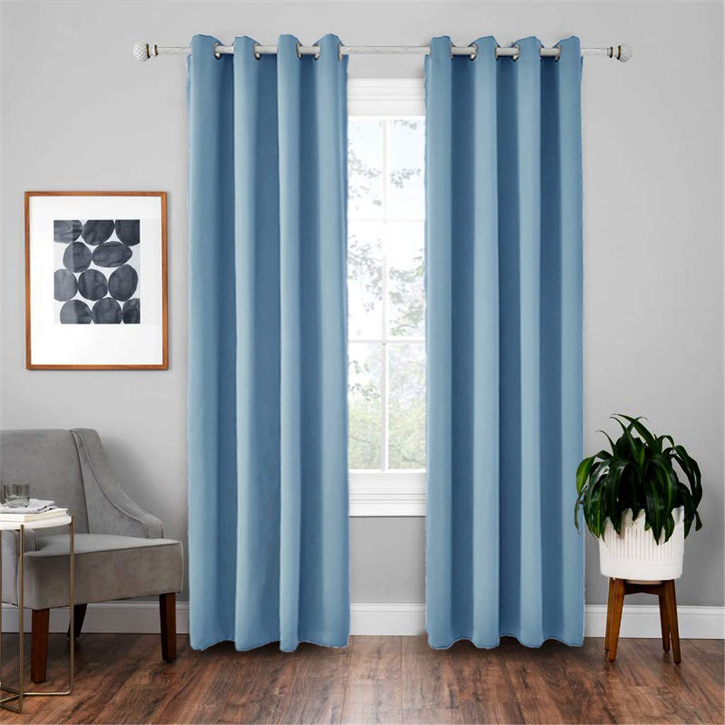 Yucode Room Darkening Blackout Curtains Thermal Insulated Grommet Curtain Panels for Bedroom Living Room