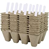 IUMÉ Seed Starter Tray Kit Pots Organic Biodegradable Germination Seedling Trays 100% Eco-Friendly, Peat Pot for…