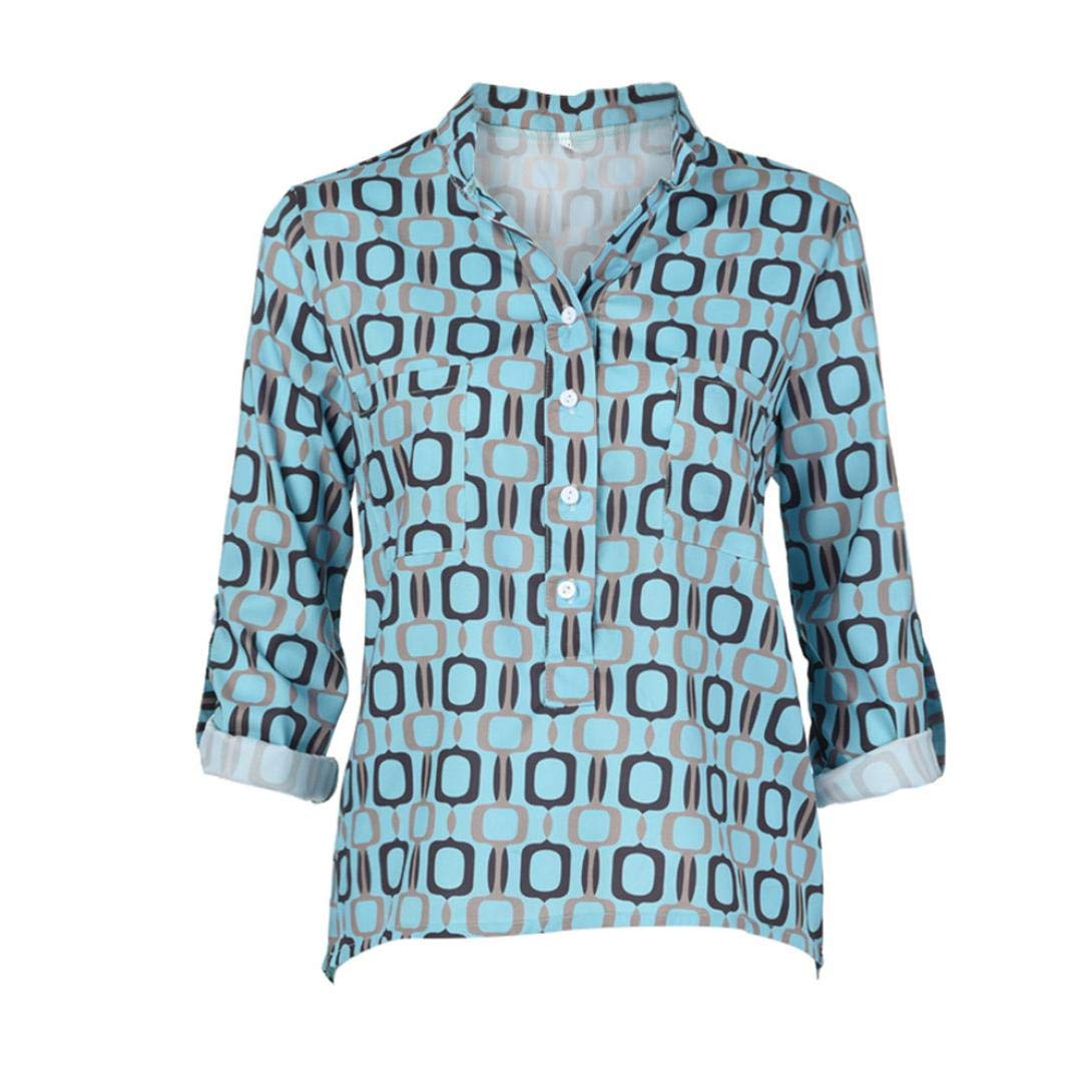 404361a46466c1 WWricotta Damen Bluse V-Ausschnitt Locker Hemd Vintage Blusenshirt Lose  Casual Langarm Tunika Oversize Oberteile größeres Bild
