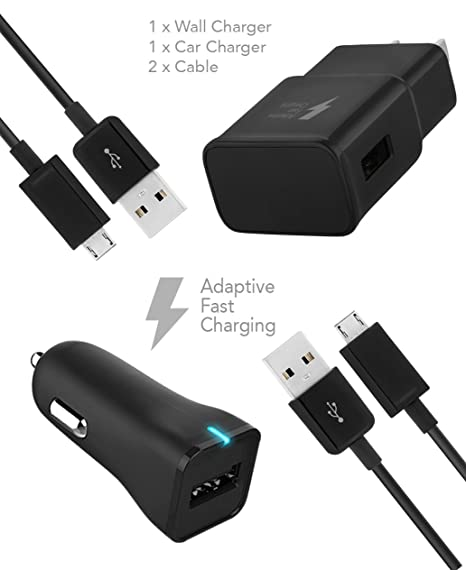 Motorola DROID Turbo Charger Micro USB 2.0 Cable Kit by TruWire - {Wall Charger +