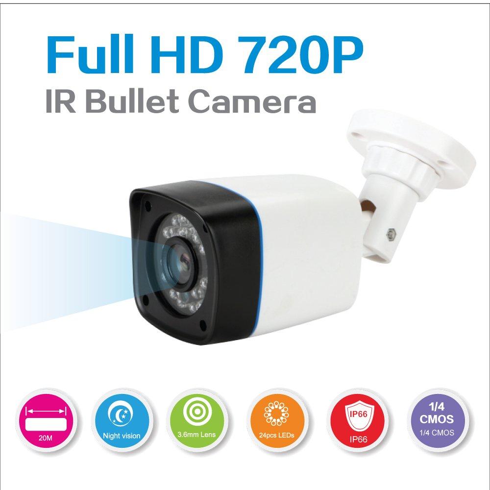 Tous Les Temps des syst/èmes de cam/éra de s/écurit/é /à Domicile avec 2X 720p en//ext/érieur Bullet cam/éra Anni cam/éras CCTV syst/ème de canaux 1080p DVR enregistreur de kit 25m Vision de Nuit