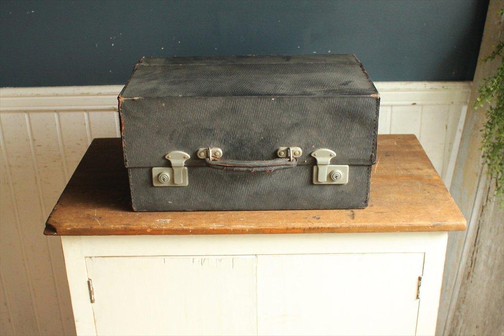 英国(イギリス)アンティーク◇ドクターズバッグ/医療鞄/かばん/黒トランク(a1400172-2) B015MSJK6Y