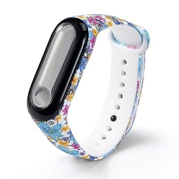 Zolimx Camuflaje Patrón TPU Muñeca Elegante Fitness Pulsera Correa de Reloj para Xiaomi Mi Band 3 Smartwatch (M)