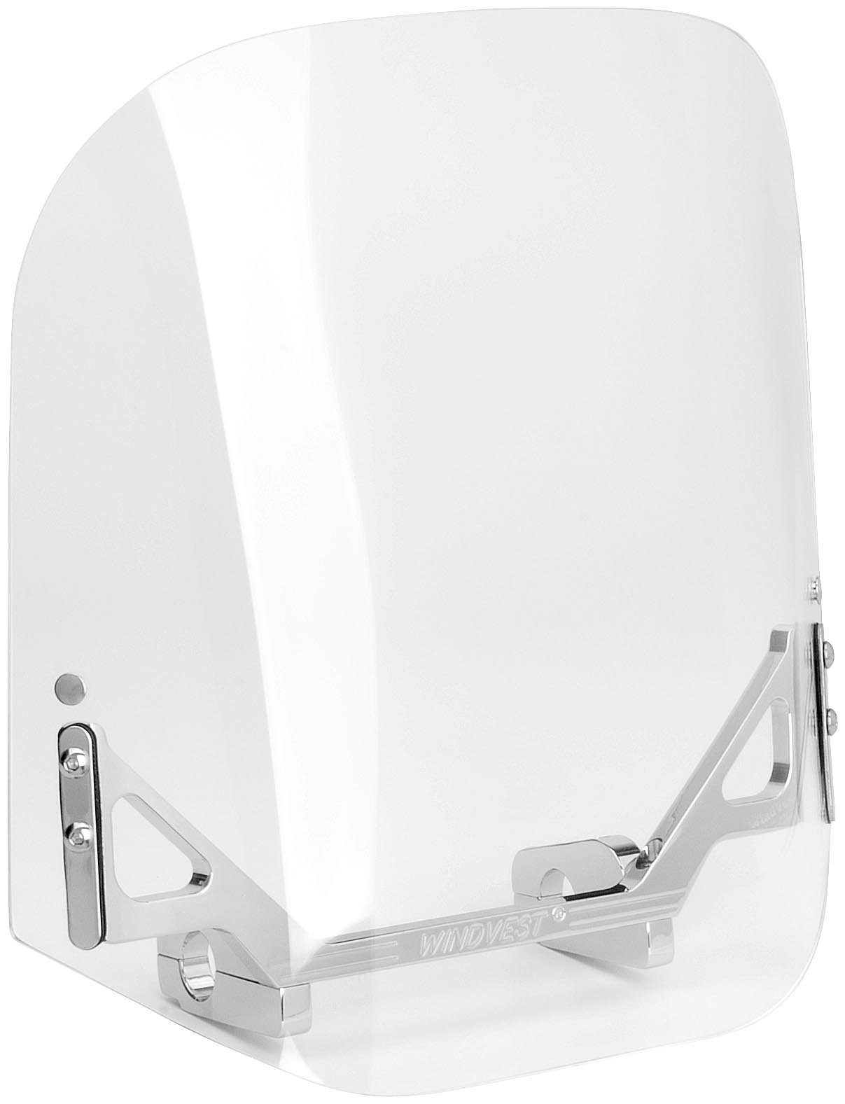 Wind Vest 14 in. Wide x 14 in. Tall Clear Windshield for Cruiser Motorcycles 1.