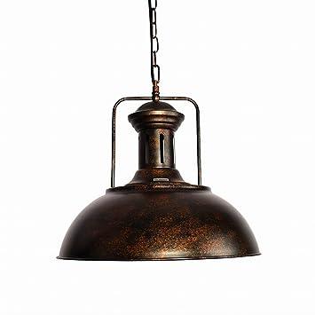 Lingkai Lampara colgante antigua de estilo industrial con ...