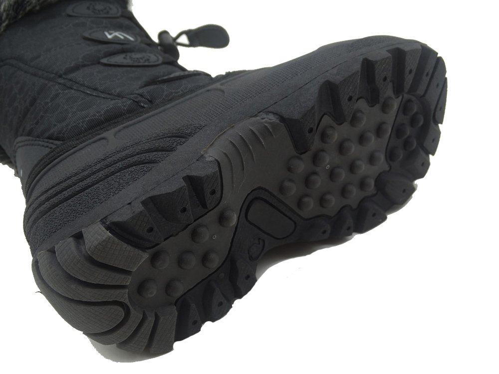 Kids Winter Snow Boots Waterproof and Insulated for Girls and Boys (13 M US Little Kid, Black) by ICEFACE (Image #6)