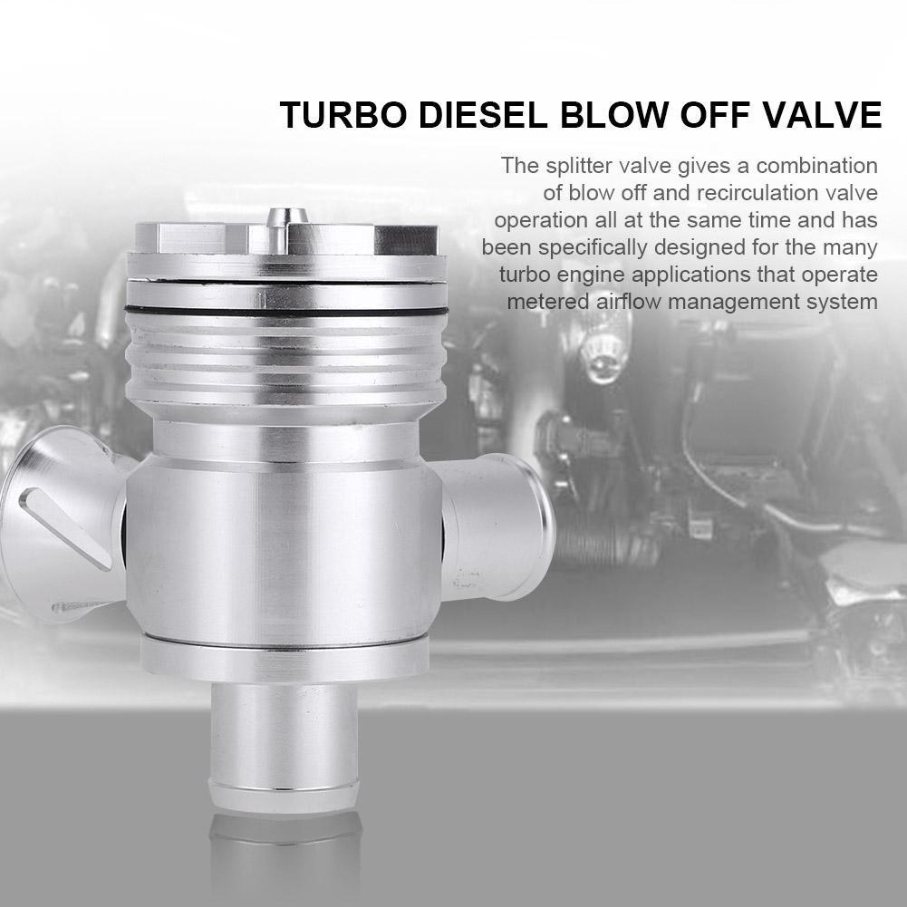 KIMISS Válvula de soplado del coche, Válvula de soplado BOV Turbo Diesel (Plata): Amazon.es: Coche y moto