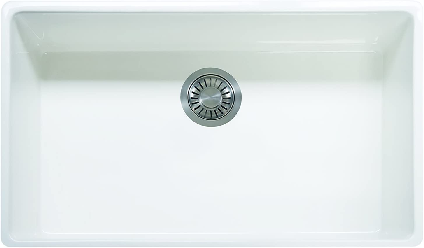 Franke FHK710-33WH Farm House 33 x 20 x 10 1 8 Apron Front Single Bowl Fireclay Kitchen Sink White