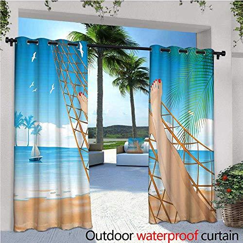 cobeDecor Tropical Balcony Curtains Legs of The Sexy