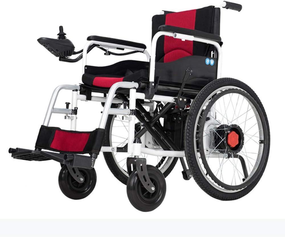 Función dual liviana de la silla de ruedas plegable eléctrica (batería de ión de litio), conduzca con energía eléctrica o use como silla de ruedas manual (43,5 CM)