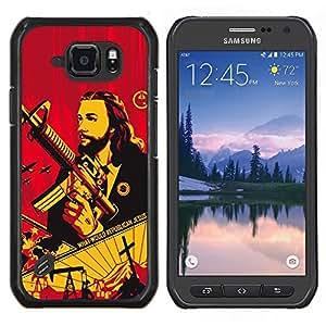 LECELL--Funda protectora / Cubierta / Piel For Samsung Galaxy S6Active Active G890A -- Pistola Revolución comunismo de guerra --
