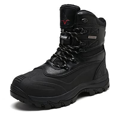 7c4e9c9bb747 arctiv8 Men s 2160443 Black Insulated Waterproof Construction Hiking Boots  Size 7.5 ...