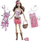 Barbie - BCJ04 - Poupée - Teresa Fashionista et Tenues
