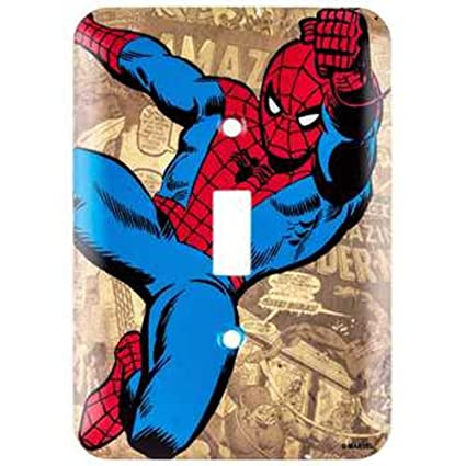 Amazon marvel spider man wall light switch cover home kitchen marvel spider man wall light switch cover mozeypictures Gallery