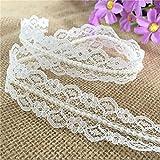 OZXCHIXU(TM) 10M* 20mm Vintage Style Lace Pearl Ribbon Trim Bridal Wedding (Ivory)