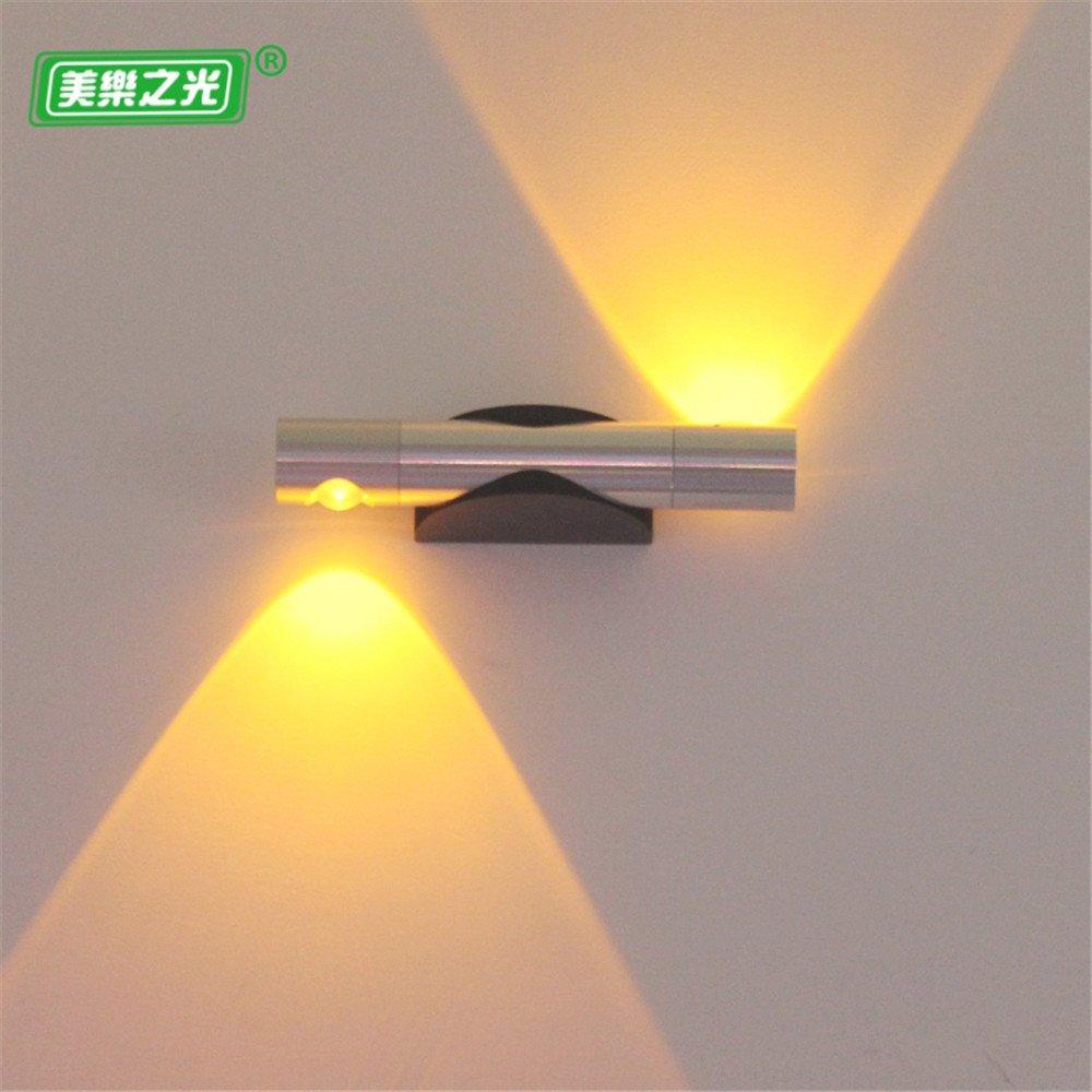Modern LED Wandleuchte Led wandleuchte kreative hotel schlafzimmer nachttischlampe wand gang gang warm wohnzimmer wandleuchte 6 watt gelbes licht kaffee. Vintage Retro Café Loft Bar Flurlampe.