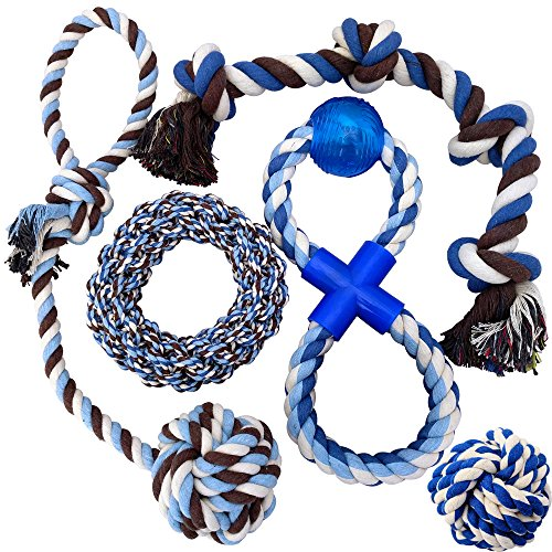 Otterly Pets Puppy Dog Pet Rope Toys - Medium to Large Dogs (5-Pack) (Large Dog Toys Rope)