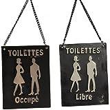 """Plaque toilettes """"Libre-Occupé"""""""