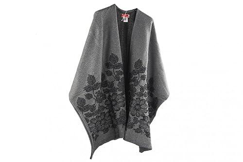 Scialle donna ROMEO GIGLI grigio poncho mantella coprispalle taglia unica