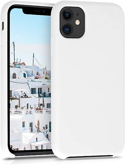 Coque iPhone 11Noir Couleur unie Souple Anti Rayure Silicone Coque Compatible iPhone 11