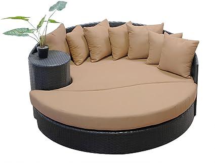 Amazon.com: TK clásicos Newport Newport circular Sun bed ...
