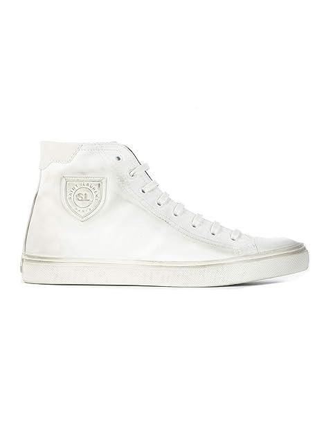 a3b16b4358 Saint Laurent Hi Top Sneakers Uomo 5138310O6109030 Pelle Bianco ...