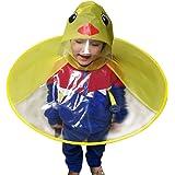 Derkoly - Gorro de lluvia con capucha y capucha para niños, diseño de pato,