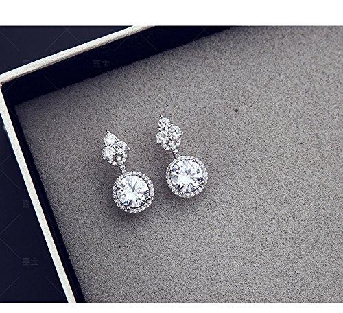 usongs earrings s925 net red star with micro needles carat diamond earrings inlaid fashion women's earrings
