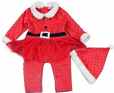 Ropa longra infantil bebé niña Navidad Cristal terciopelo de ...