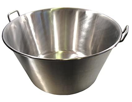 "Xl Cazo Para Carnitas 25"" Stainless Steel Heavy Duty Acero Inoxidable"