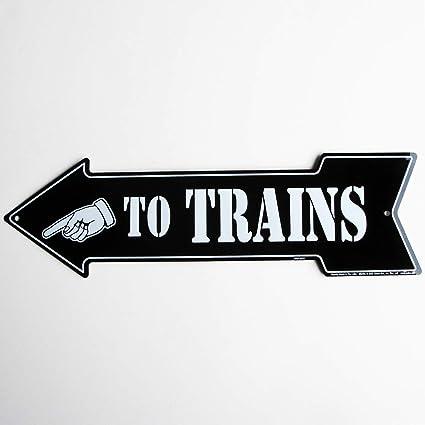 Amazon.com: A Trenes Flecha – Tren de metal tin sign: Toys ...