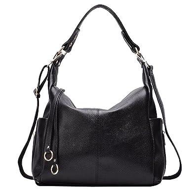 FairyBridal Luxury Cowhide Hobo Bags for Women Genuine Leather Satchels edf1f059416e7