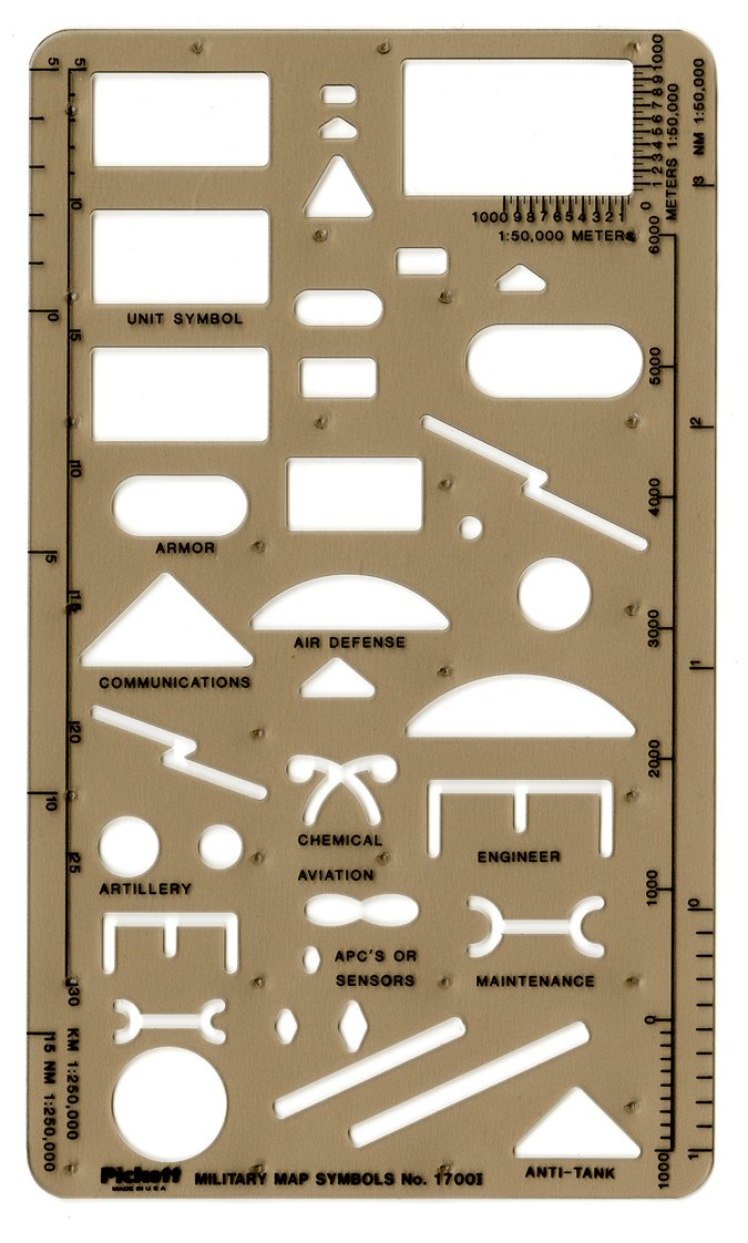 Pickett Military Map Symbols Template (1700I)