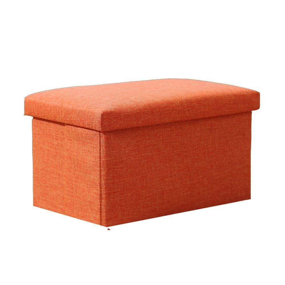 QTQZ Brisk- Creative Simple Storage Stool Multifunction Toy Storage Stool Can Wool Around The Shoe Stool Solid Wood Sofa Stool (Color Optional) (40 40 33cm) (Color: C)