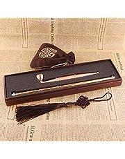 N\C Lång metall tobak rökning rör röktillbehör lyxig låda kinesiska tobaksrör utdragbar storlek rör för rökning