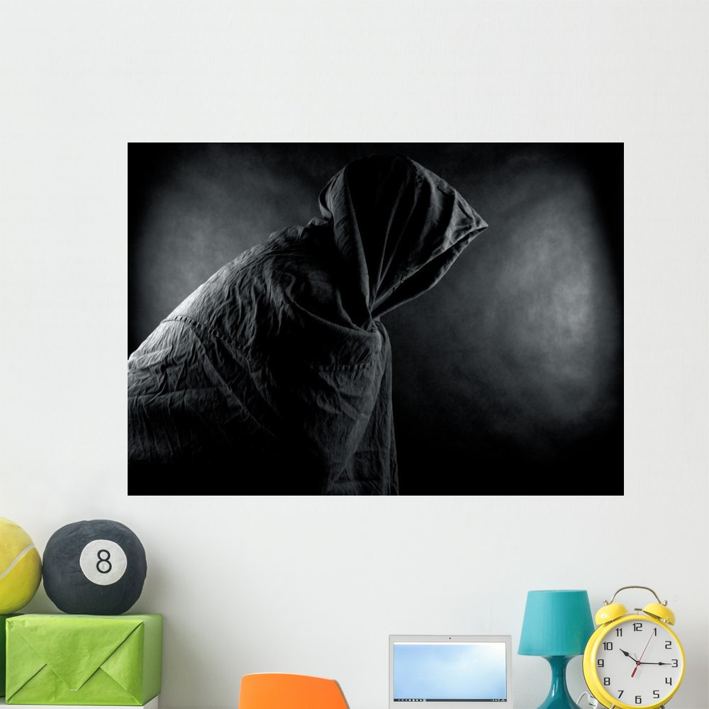Ghost Dark Wall Mural by Wallmonkeys Peel and Stick Graphic (48 in W x 34 in H) WM365460