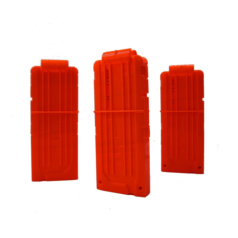 EKIND 弾丸クリップ、3つのソフトのクリップ、12 - ダーツ弾薬クリップ、ポイントでNerfのおもちゃにクリップ、子供のおもちゃの銃 - オレンジ B0774CJPDY  3 パック